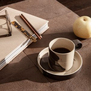 ferm-LIVING-Inlay-Cup-With-Saucer-Sand-Black_2_resort-conceptstore